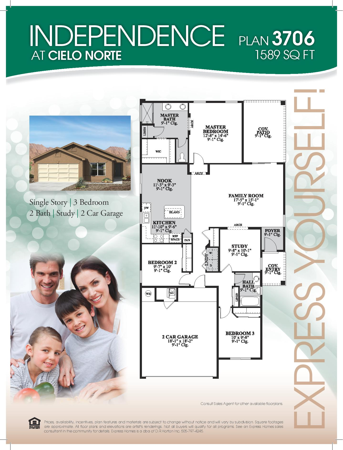 Express Homes Independence Floor Plan