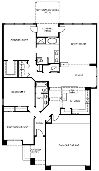 Twilight Homes Forsythia Floor Plan