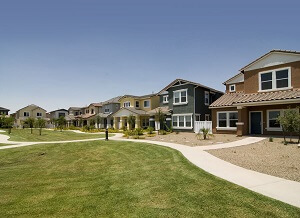 Row of sunny Rio Rancho houses
