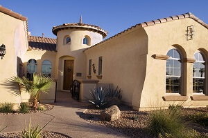 Upscale southwestern home in Rancho Viejo style