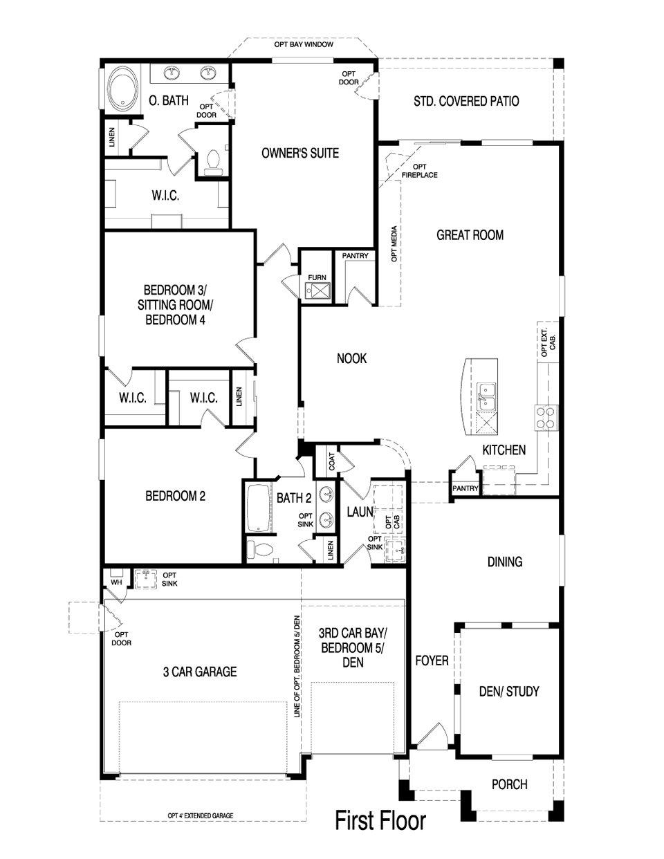 Pulte Homes Opal Floor Plan