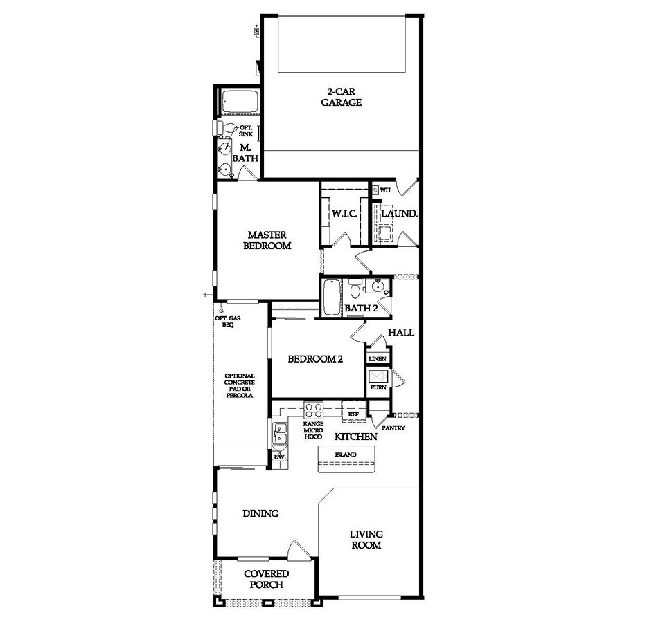 Pulte Homes Agave Floor Plan