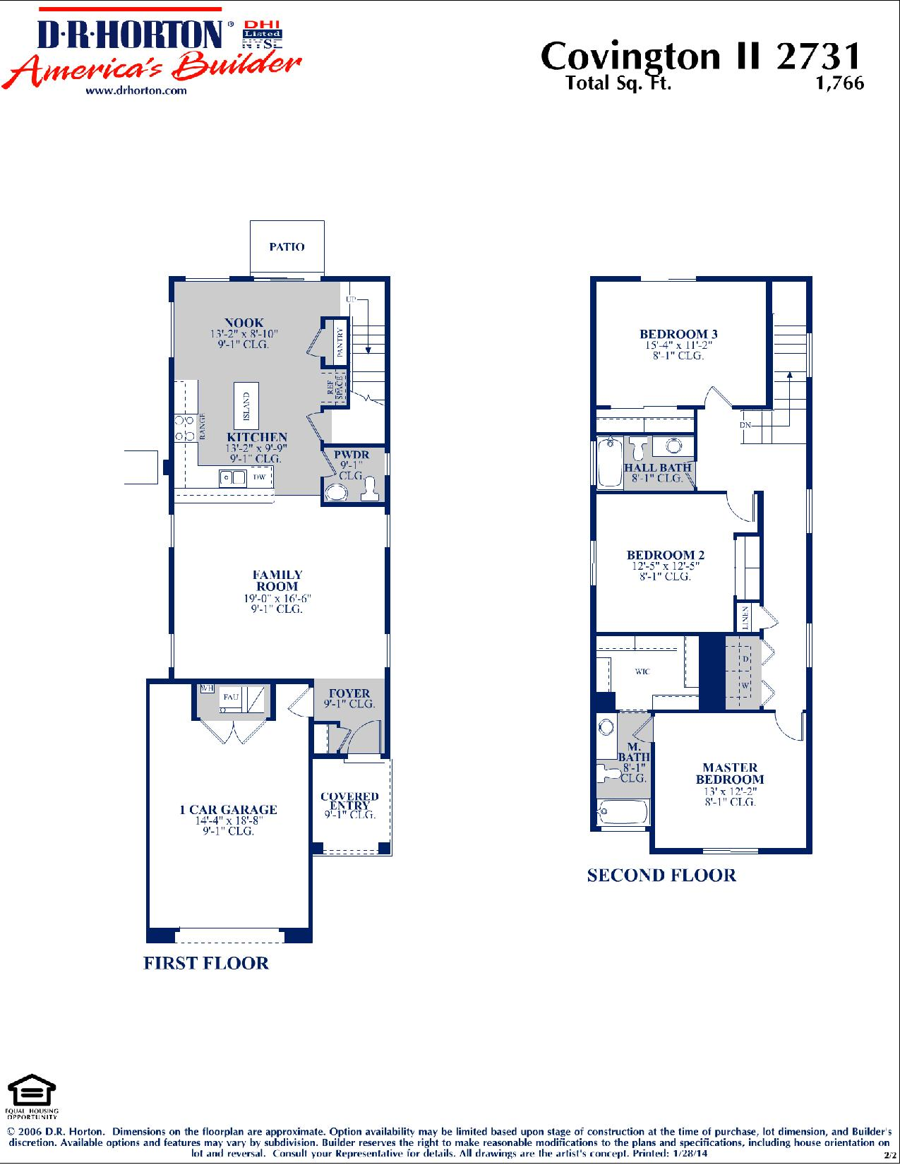 Dr Horton Covington Ii Floor Plan