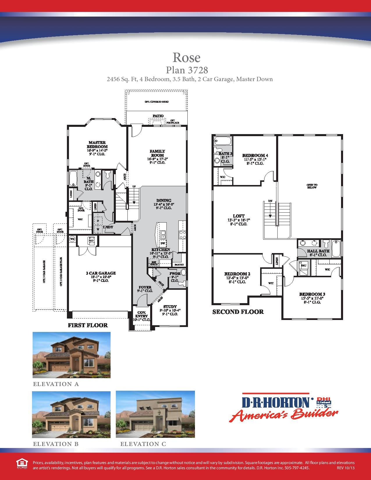 Dr Horton Floor Plans Texas Dr Horton Rose Floor Plan