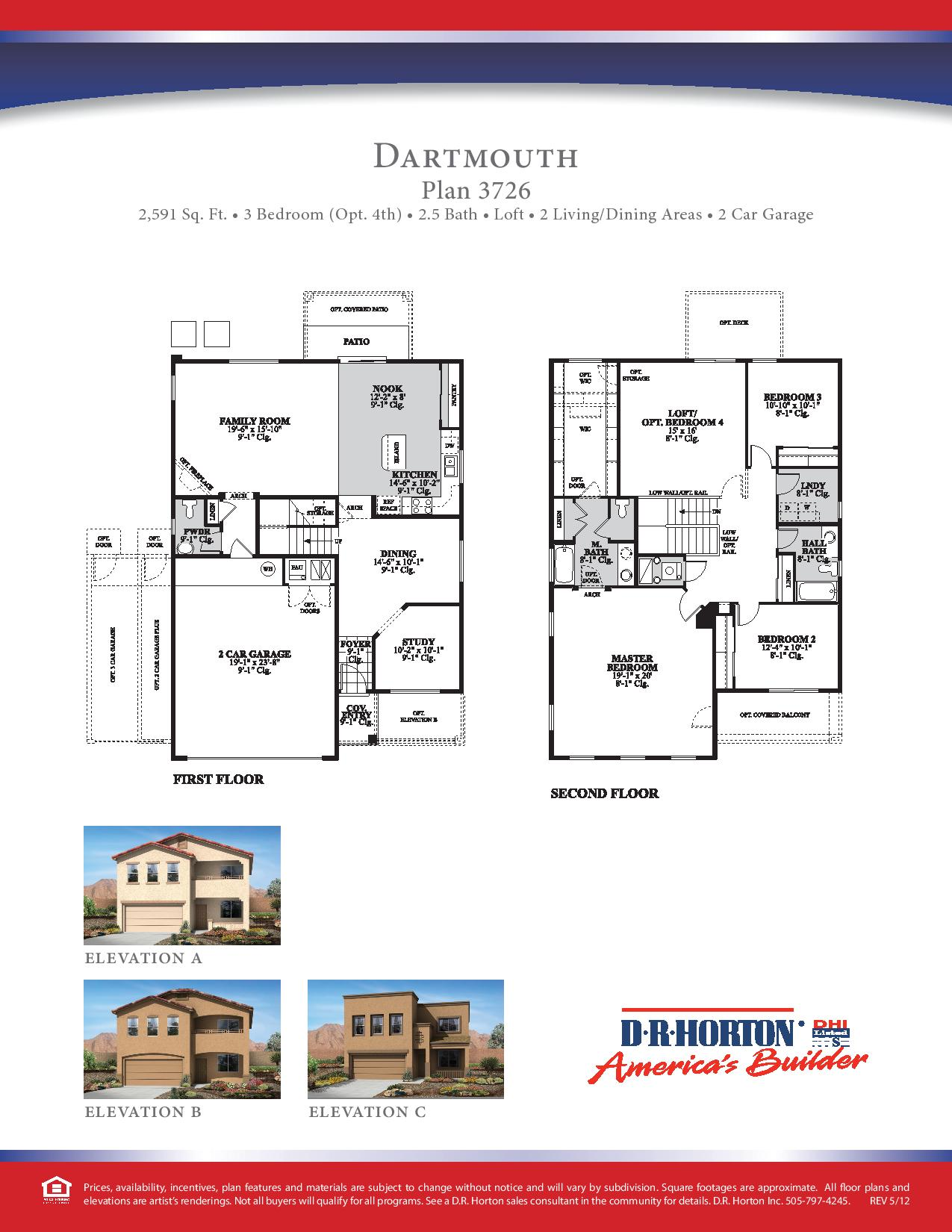 Dr Horton Dartmouth Floor Plan