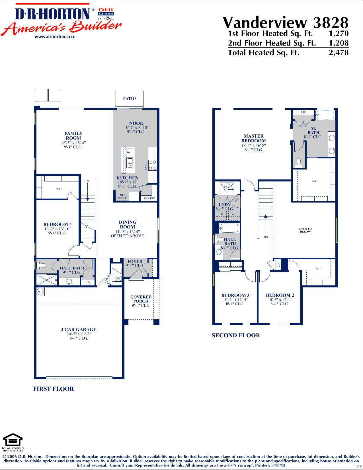 Dr Horton Vanderview Floor Plan