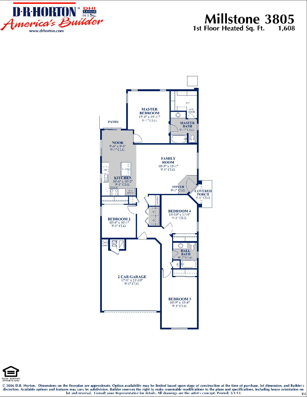 Dr Horton Millstone Floor Plan