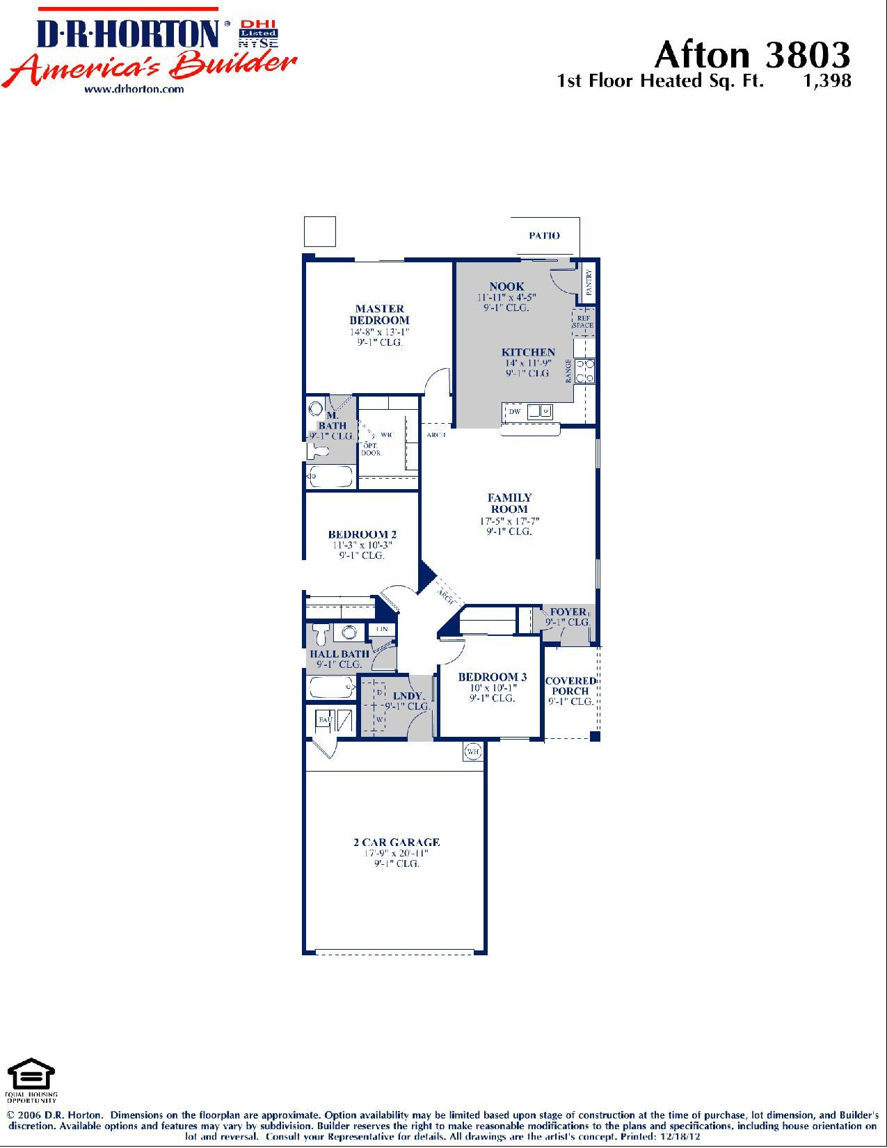 Dr Horton Afton Floor Plan