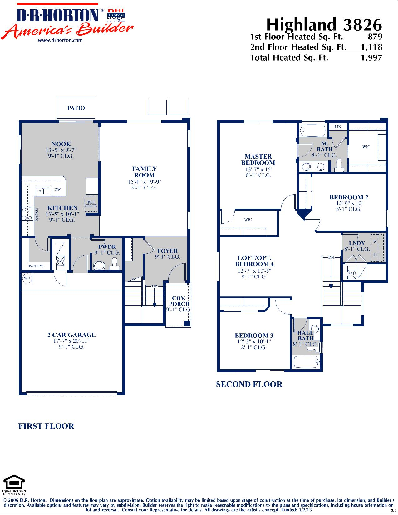 Dr Horton Highland Floor Plan