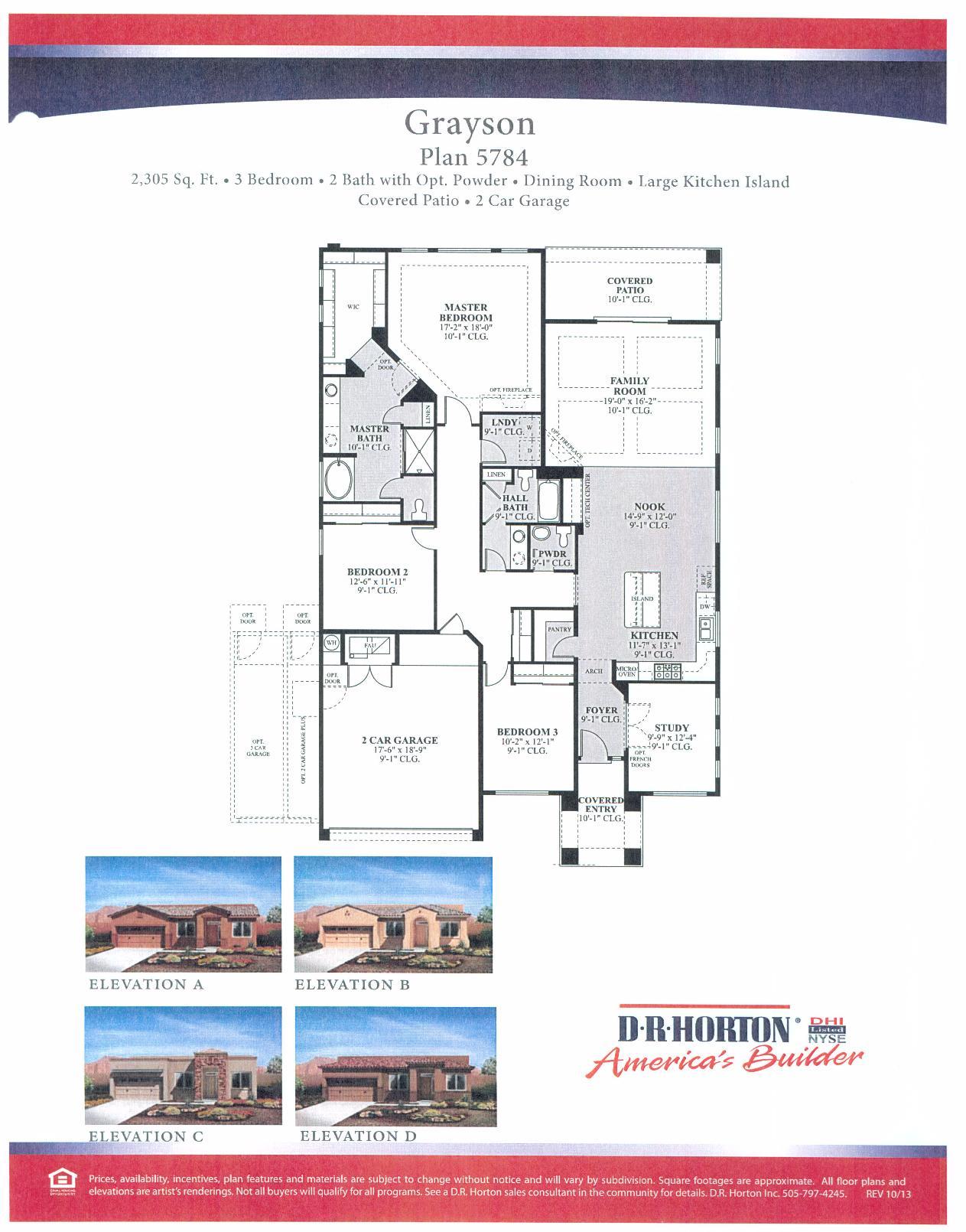 Dr Horton Grayson Floor Plan