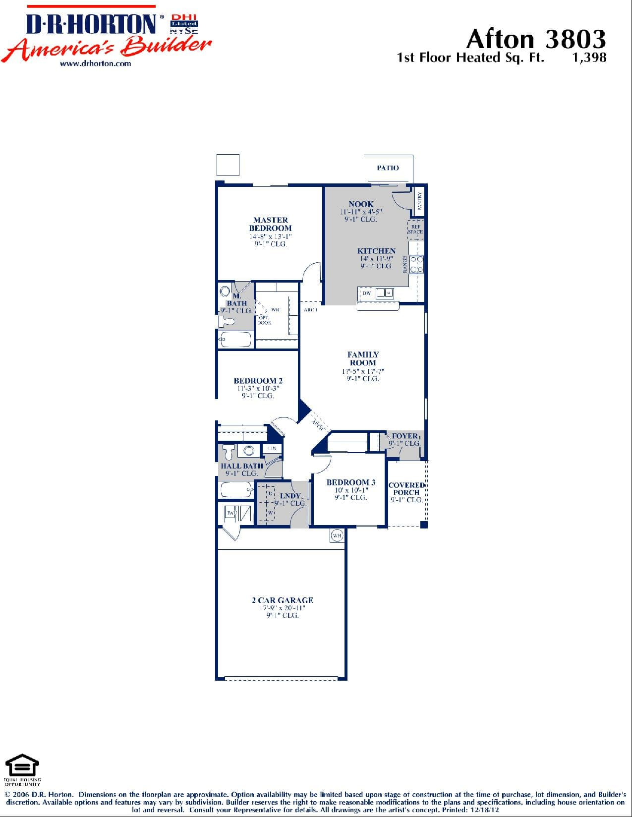 Dr Horton Floor Plans Arizona Dr Horton Homes