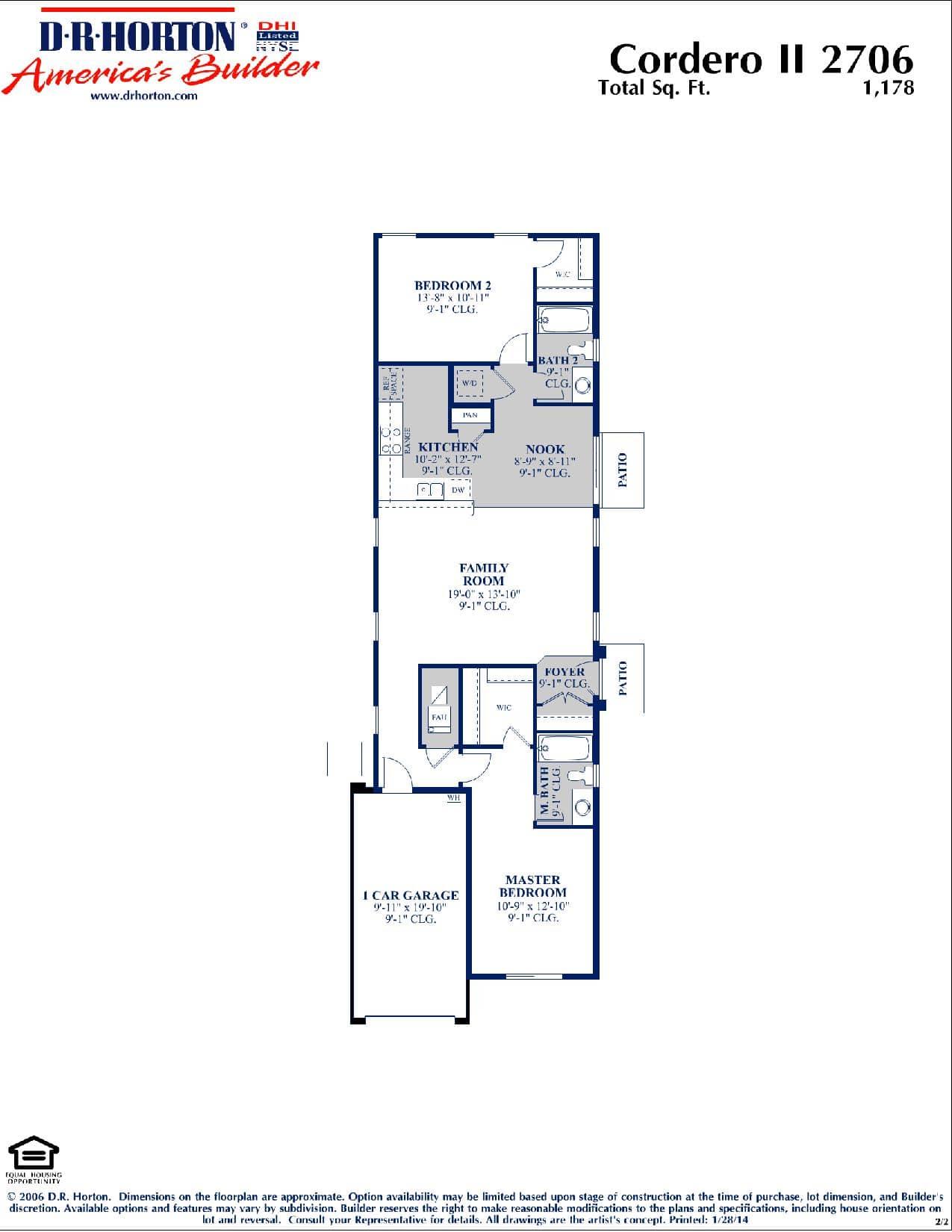 Cordero II Floor Plan .
