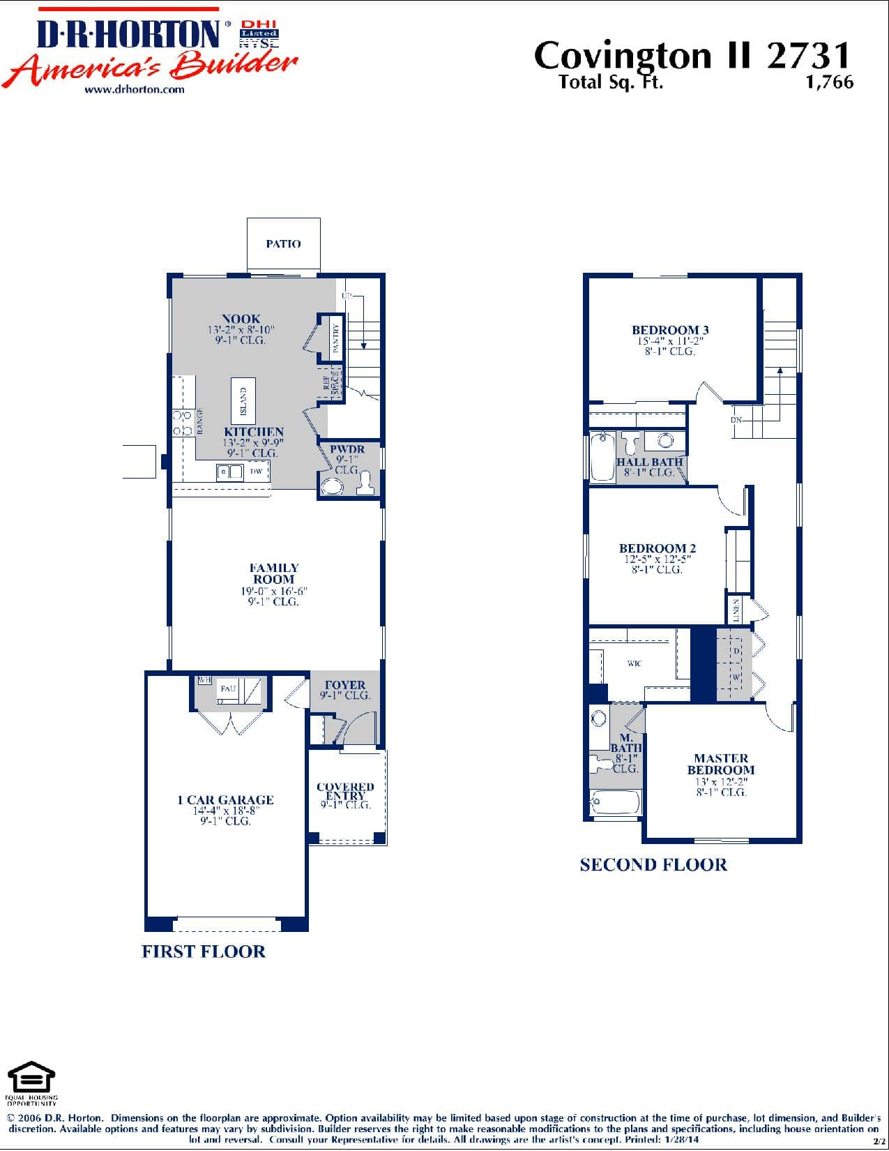 Covington II Floor Plan ...