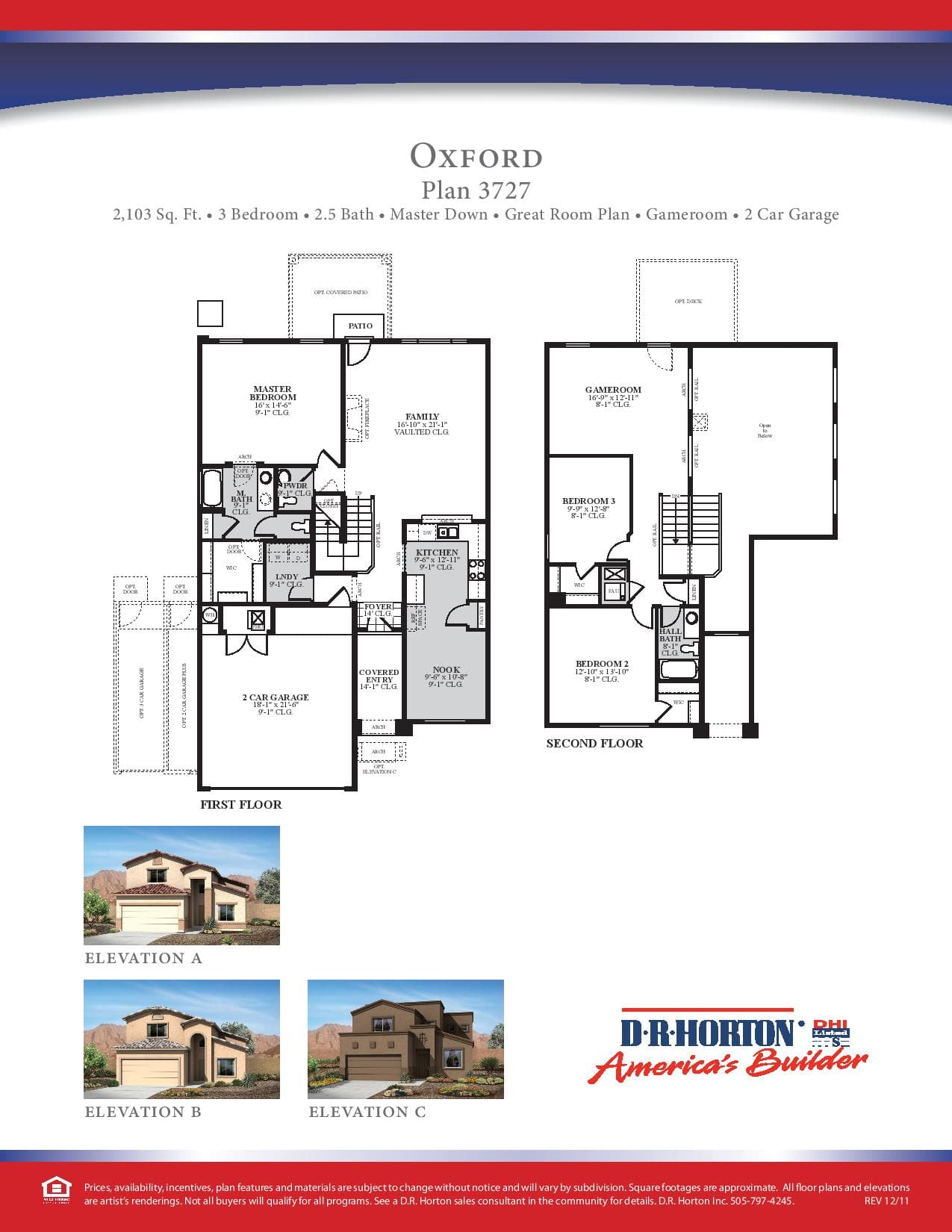 100 Centex Floor Plans 2007 Pulte Homes