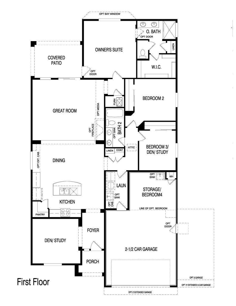 Pulte homes floor plans 2005 for Fun house plans